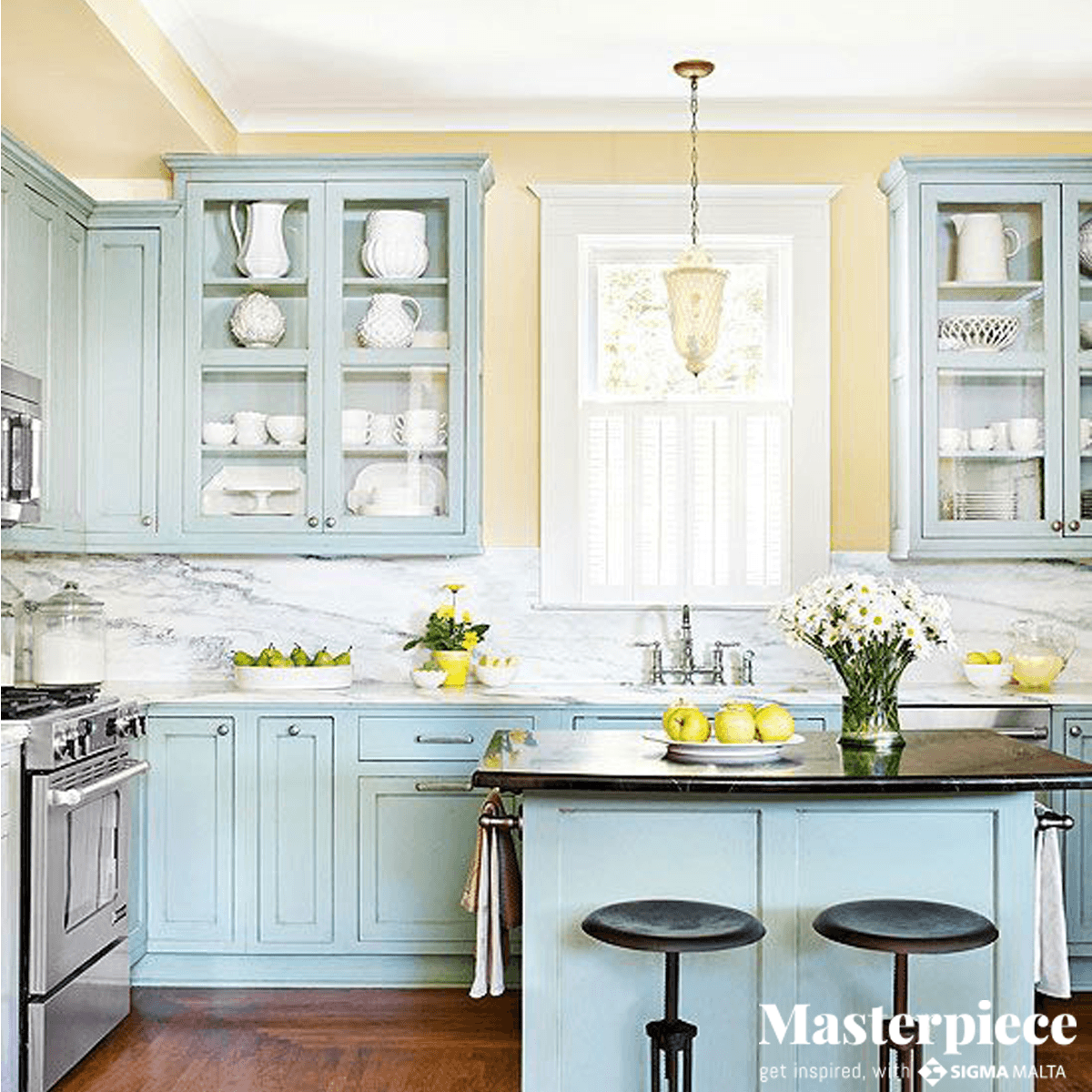 Sweet </br><span> pastels </span> for the kitchen