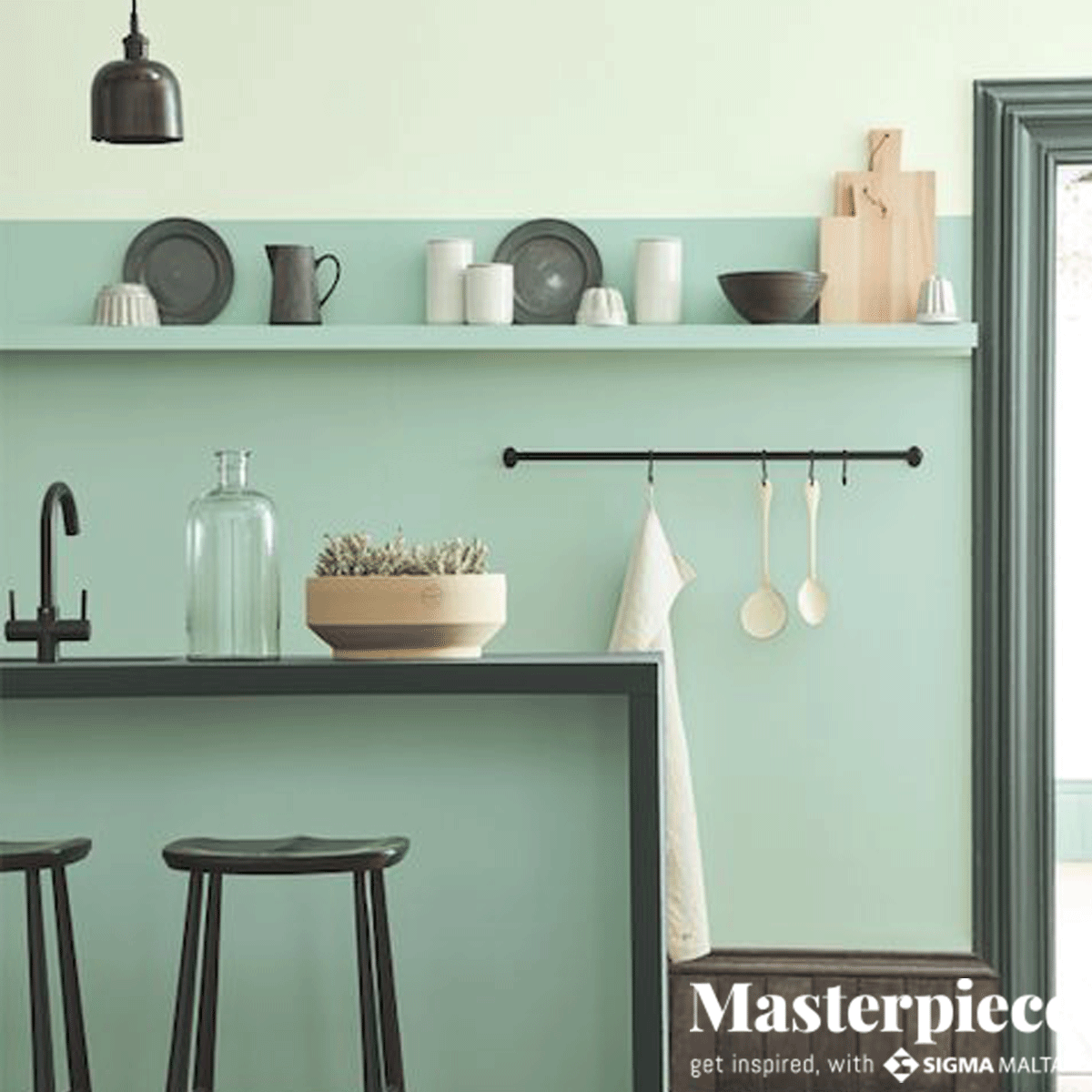 Colour blocking</br><span> in the kitchen</span>