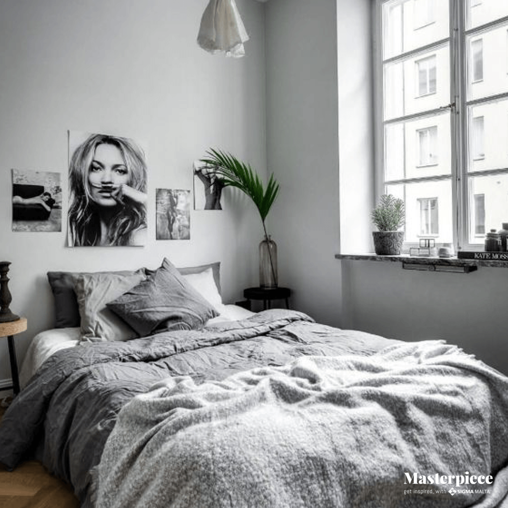 Grey walls</br><span> fit for Kate Moss </span>