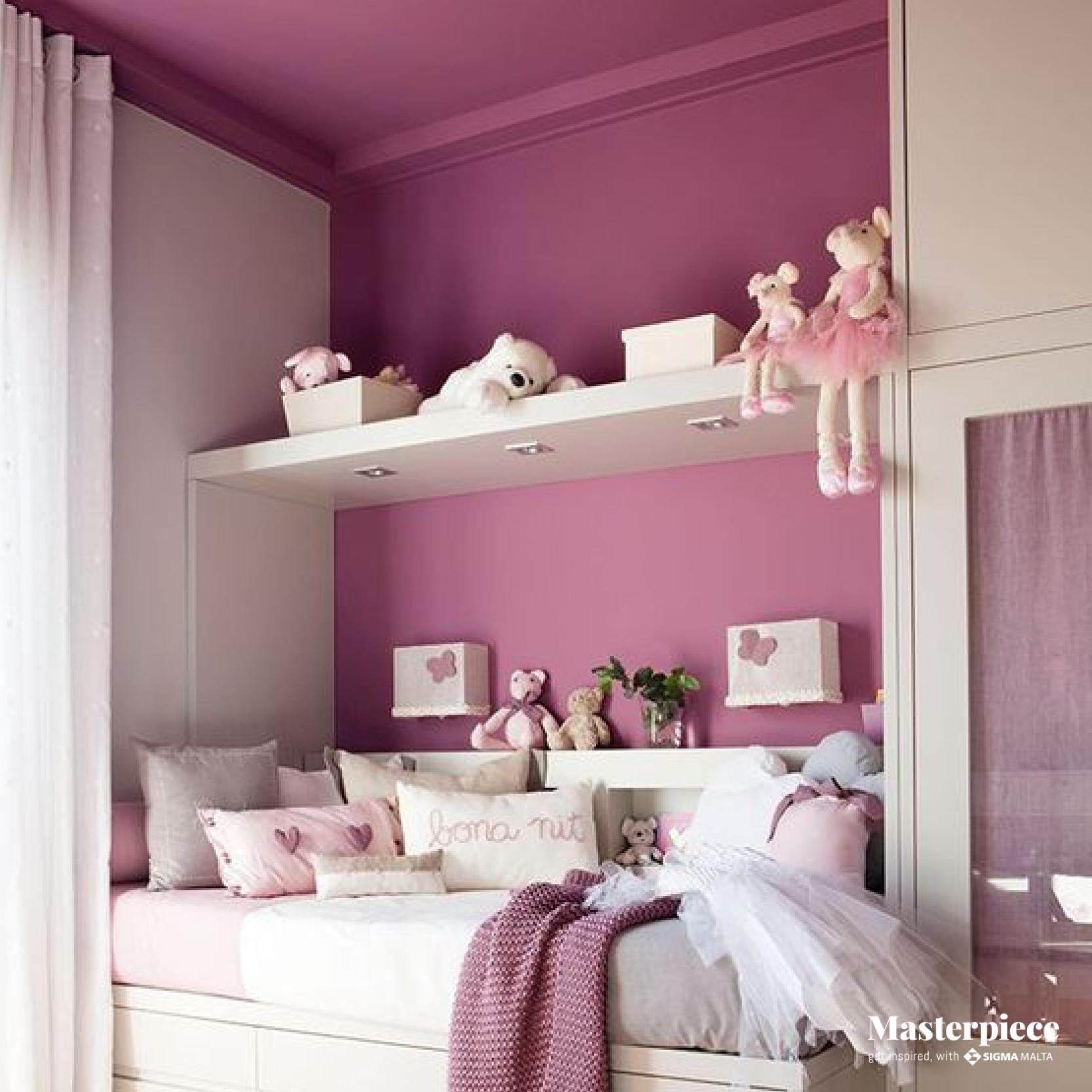 Warm pink tones </br><span> accompany child's dreams </span>
