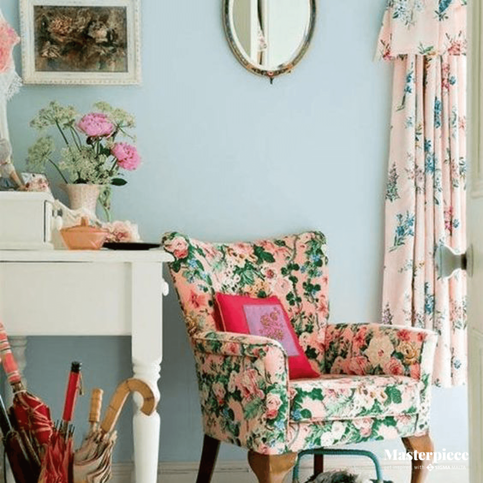 Flowers and Vintage </br><span> Living room </span>