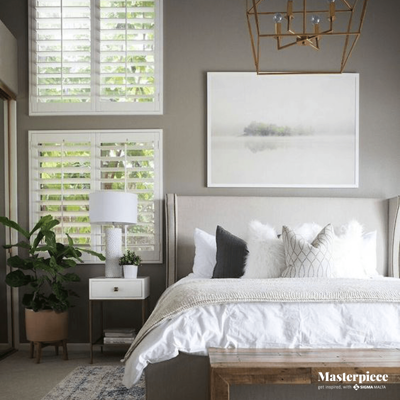 Al shades of grey </br><span> Master Bedroom </span>