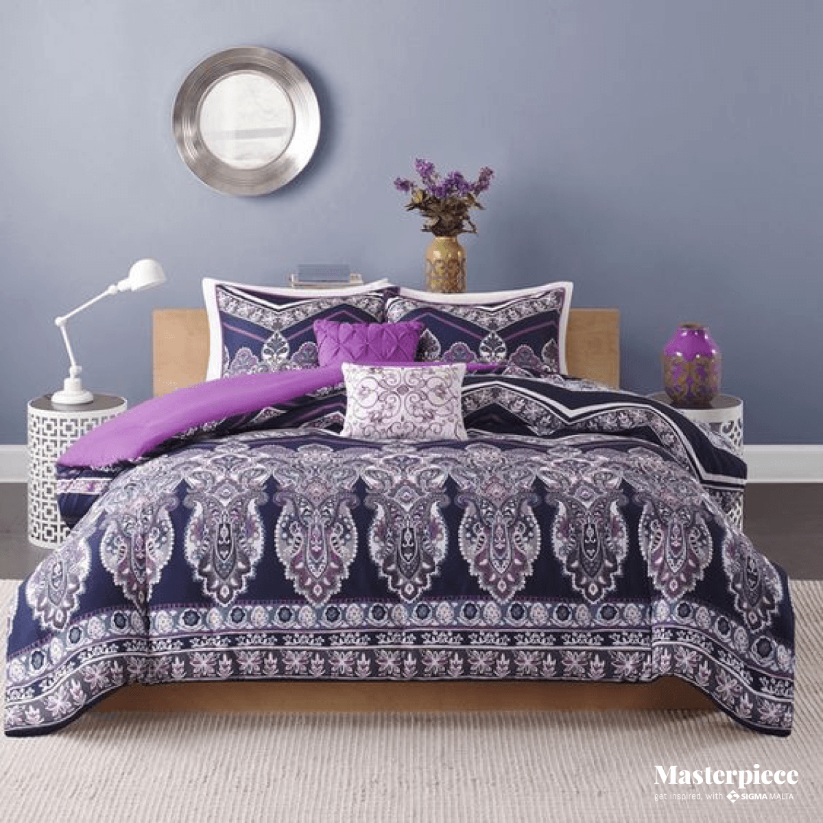 The perfect King Size</br><span> purple bed</span>