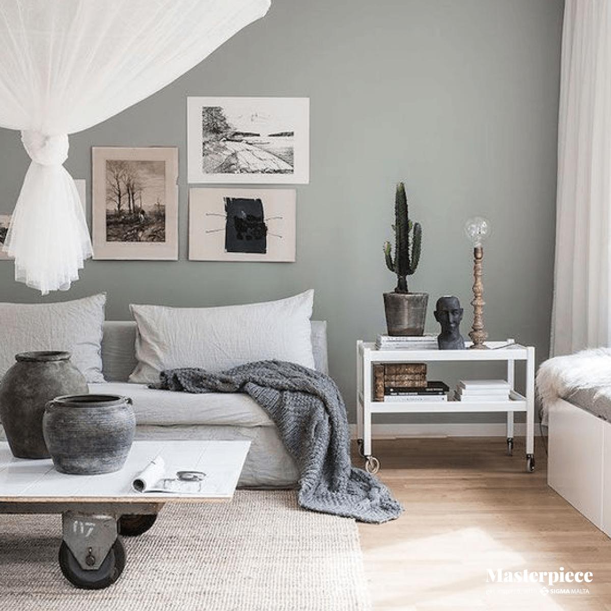 An artistic </br><span> living room </span>